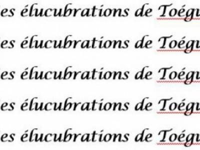 Les élucubrations de Toégui : De l'audace, de l'audace, encore de l'audace
