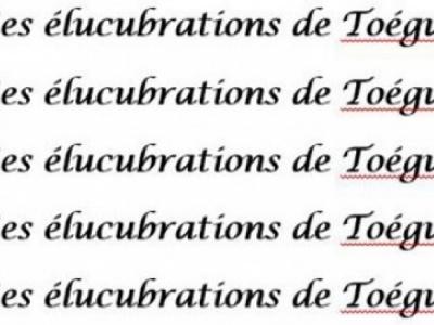 Elucubration des élucubrations…